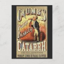 Vintage Label Art, Crumb's Pocket Asthma Inhaler Postcard