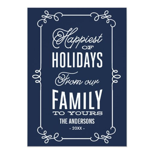 VINTAGE LABEL | HOLIDAY PHOTO CARD