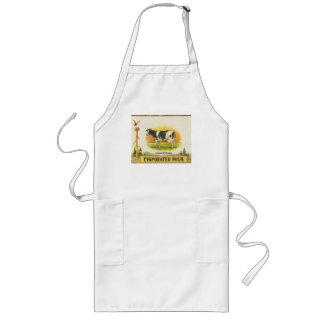 vintage label holstein cow evaporated milk long apron