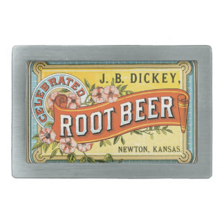 Vintage Label Root Beer Belt Buckle