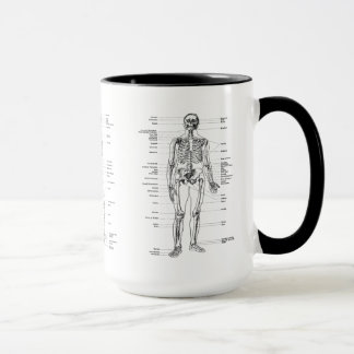 Vintage - Labeled Skeleton - Front, Back & Lateral Mug