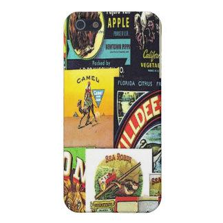 vintage labels iPhone 5/5S cases