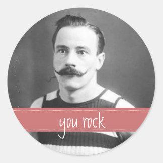 Vintage Labels Mustache / Moustache You Rock