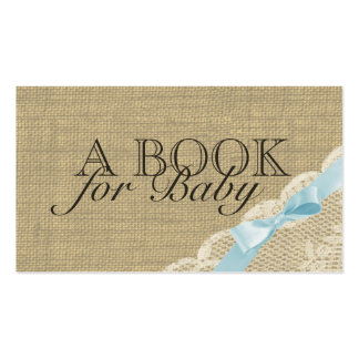Vintage Lace and Blue Bow Insert Cards Double-Sided Standard Business Cards (Pack Of 100)