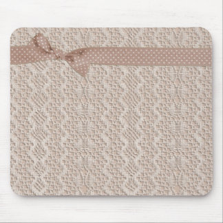 Vintage Lace and Bow Mouse Pad