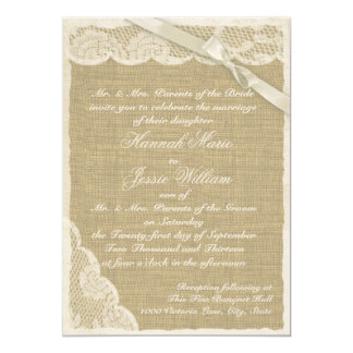 Vintage Lace and Burlap Card