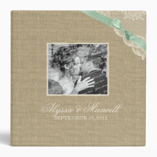 Vintage Lace and Mint Bow Look with Photos Binder