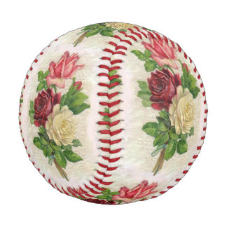 Vintage Lace and Roses Baseball