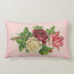 Vintage Lace and Roses Pillow