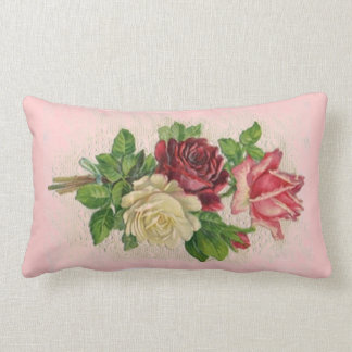 Vintage Lace and Roses Pillow Pillow