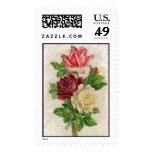 Vintage Lace and Roses Postage