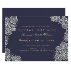 Vintage Lace Bridal Shower Invitation at Zazzle