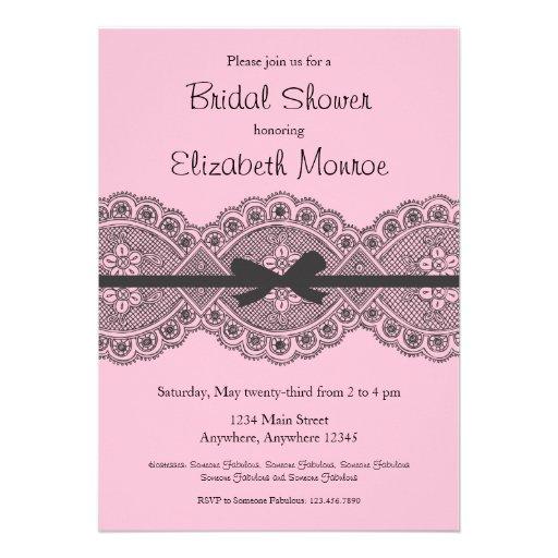Vintage lace bridal shower invitation 5 x 7 invitation for Classic bridal shower invitations