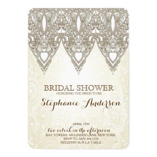 Vintage lace bridal shower invitations zazzle for Classic bridal shower invitations