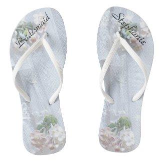 Vintage Lace Bridesmaid Custom Wedding Flip Flops