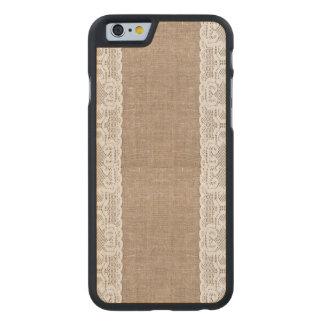 Vintage, lace, burlap, grunge, victorian, shabby carved® maple iPhone 6 slim case