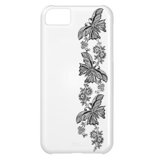 Vintage Lace Butterflies Butterfly Case-Mate iPhone 5C Case