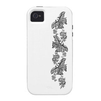 Vintage Lace Butterflies Butterfly Case-Mate Case-Mate iPhone 4 Case
