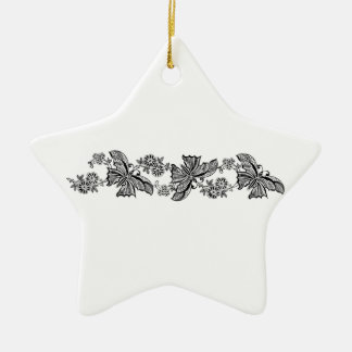 Vintage Lace Butterflies Butterfly Star Ornaments
