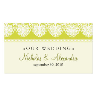 Vintage Lace Citrus Wedding Website Card Double-Sided Standard Business Cards (Pack Of 100)