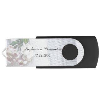 Vintage Lace Custom USB Flash Drive Wedding Photos