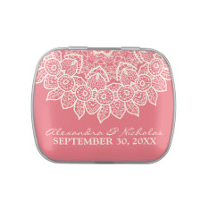 Vintage Lace Doily Wedding Favor Tins (rose Pink) Candy Tins at Zazzle