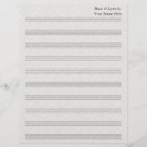 Vintage Lace Emboss Blank Sheet Music 10 Stave