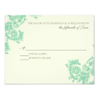 Vintage Lace | Emerald | RSVP Card