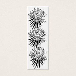 Vintage Lace Flowers Reversible Bookmarks Mini Business Card
