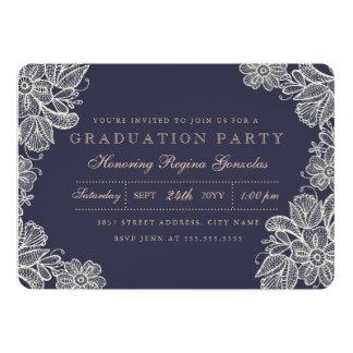 Vintage Lace Graduation Card