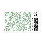 Vintage Lace (Green) Postage Stamp