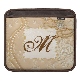 Vintage Lace Jewelry Vict Monogram IPAD Laptop Bag Sleeve For iPads