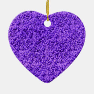 Vintage Lace Leaf Purple Ornament