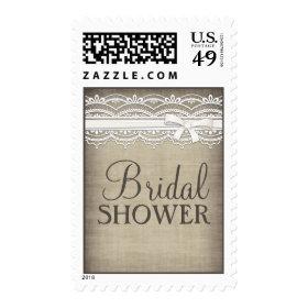 Vintage Lace & Linen Rustic  Bridal Shower Postage