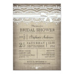 Vintage Lace & Linen Rustic Country Bridal Shower Card