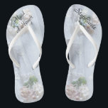 "Vintage Lace Maid of Honor Wedding Flip Flops<br><div class=""desc"">This Vintage Lace design personalized, comfortable Maid of Honor Flip Flops are a simple, elegant, and chic gift for members of the Bridal Party - Bride, Bridesmaid, Maid of Honor ... They will add to the festivities of your wedding day, bachelorette party, or other celebration. Easy to customize name and...</div>"