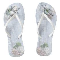 Vintage Lace Mother of Bride Wedding Flip Flops