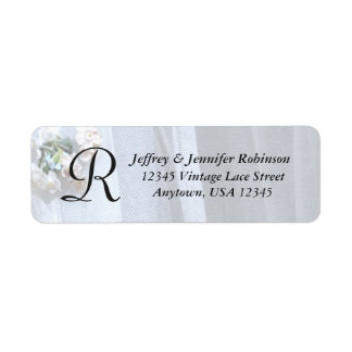 Vintage Lace Name and Address Label Monogram