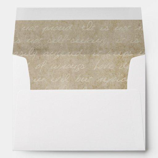 Vintage Lace Old World Invitation Envelope