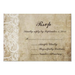Vintage Lace Old World RSVP Card Announcements