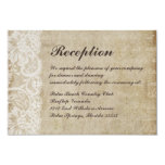 Vintage Lace Old World Wedding Reception Card Custom Announcement