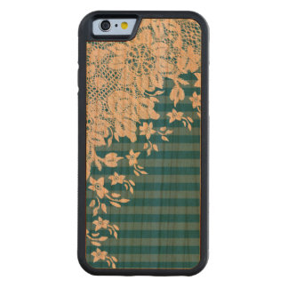 Vintage Lace on Any Color Wood Carved Cherry iPhone 6 Bumper Case