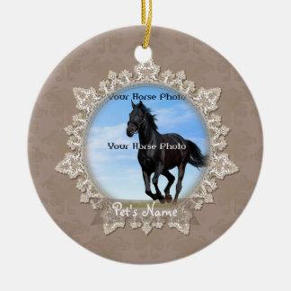 Vintage Lace Pet Horse Memorial Ornament