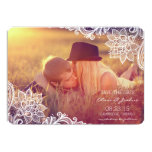 """Vintage Lace Photo Save The Date Announcement 5"""" X 7"""" Invitation Card"""