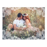 VINTAGE LACE PHOTO SAVE THE DATE POSTCARD