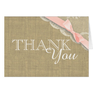 Vintage Lace Pink Baby Shower Thank you Card