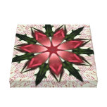 Vintage Lace Pink Rose Kaleidoscope Canvas Print