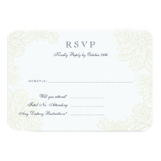 Vintage Lace Response Card