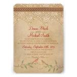 Vintage Lace Rustic Wedding Invitation