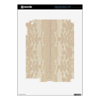 Vintage Lace Seam Decals For iPad 2